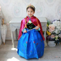 Hot Sale Baby Kids Girl Children's Cloak Ball Gown Princess Dress Clothing Set = 1946022340