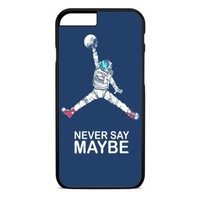 Astronaut Fnever Say Maybe Basketball iPhone 4 Case Black