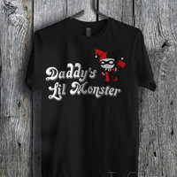 Daddy Lil's Monster harley quinn - zzz Unisex Tees For Man And Woman / T-Shirts / Custom T-Shirts / Tee / T-Shirt