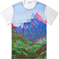 Multicolor Mountain Printed Jersey T-Shirt