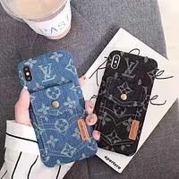 LV new jacquard denim iPhone X case cover