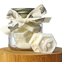 Honey Bee Guest Soap Gift jar. Honey scented by Melodie Perfumes