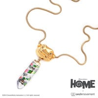 Onch Movement — Oh Crystal Necklace (14K Gold Dipped)