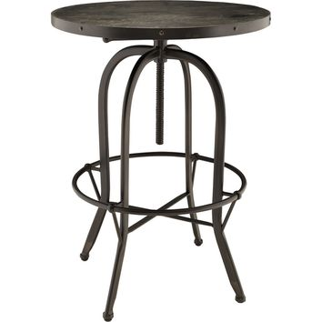 Sylvan Wood Top Side Table Black Pine & Metal