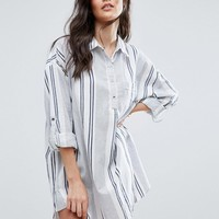 Vila Oversized Stripe Shirt Dress at asos.com