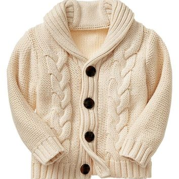 Gap Baby Factory Cable Knit Cardigan