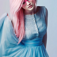 Cotton Candy PASTEL Pink // 2 Human Hair by WarriorsOfCulture