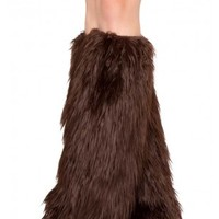 Brown Faux Fur Leg Warmers Costume Accessory @ Amiclubwear costume Online Store,sexy costume,women's costume,christmas costumes,adult christmas costumes,santa claus costumes,fancy dress costumes,halloween costumes,halloween costume ideas,pirate costume,d