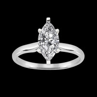 1.51 carat marquise cut diamond solitaire wedding ring solid white gold 14K