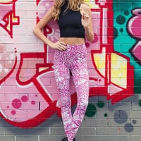 Brer Rabbit Pink HWMF Leggings
