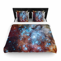 """Suzanne Carter """"Star Cluster"""" Blue Space Woven Duvet Cover"""