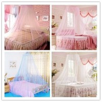 Romantic  Dream  Round Women girl  Princess Lace Mosquito Net Indoor Insect Bed Canopy Mesh Curtain [8097997511]