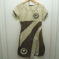 "MAD MEN ""Megan"" Mod Olive and Khaki Dress"