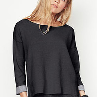 Boxy Double-knit Pullover - A Kiss of Cashmere - Victoria's Secret