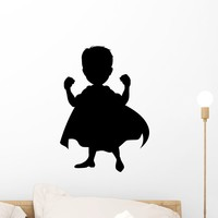 Wallmonkeys Superhero Silhouette for You Design Peel and Stick Wall Decals - Groovy Kids Gear