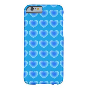 Deep Blue Water Heart Barely There iPhone 6 Case