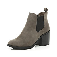 River Island Womens Dark brown block heel Chelsea ankle boots