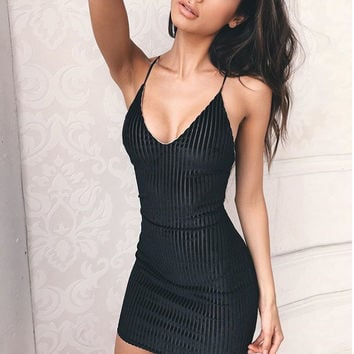 Backless Hot Sale Summer Women's Fashion V-neck One Piece Dress [11677690767]