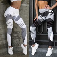 New digital print yoga leggings for women with hipped hips and high waists