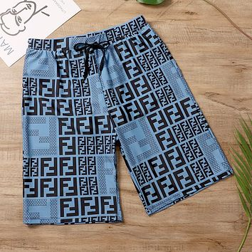 Fendi   Print Side  Sports Running Shorts