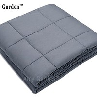 """Weighted Blanket for Anxiety, ADHD, Autism, OCD - Premium Weighted Blanket for Sensory Processing Disorder By Amy Garden (60""""x80"""", Grey Inner Weighted Layer,15lbs)"""