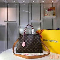 HCXX 19Aug 565 Louis Vuitton LV M44671 Montaigne BB Shoulder Strap Tote Print Duffel Bag 33-23-15cm