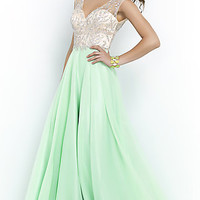 A-Line Floor Length Gown by Blush