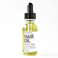 coconut HAIR OIL. vegan hair conditioner oil - coconut + vanilla