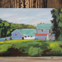 PETALUMA BARNS, 9.75 x 16 - Old Lakeville Road - Petaluma - Northern - California Landscape - Original Oil Painting - Plein Air - Home Decor