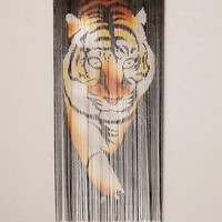 Tiger Bamboo Beaded Curtain | Urban Outfitters