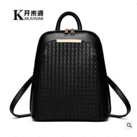 100% Genuine leather Women backpack 2016 new backpack fashionista new spring and summer fashion leisure Korean women students