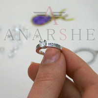 Swarovski zirconia he and she names ring, silver name ring, personalized name ring, wedding ring, engraved ring, engagement ring, christmas