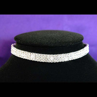 Stretch Rhinestone Choker Necklace