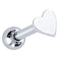 Micro Heart Stainless Steel and 925 Sterling Silver Cartilage Tragus Earring