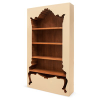 Inside-Out Bookcase, Beige, Bookcases & Bookshelves