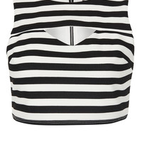 Petite Stripe Cut Out Crop Top - New In This Week - New In - Topshop USA