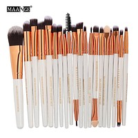 20pcs Cosmetics Beauty Makeup Brushes Set Foundation Power Blush Eye Shadow Brow Blending Make Up kabuki Tool Brush Kit