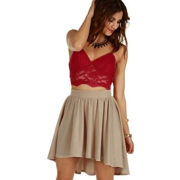 Sale-red Love At First Sight Bustier Top
