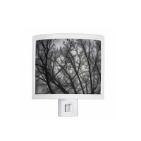 Night Light - Haunted, black, grey, trees, nature, spooky - kitchen, newlyweds, new home, bathroom, bedroom, gift idea - Made To Order-H#07