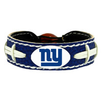 Gamewear NFL Leather Wrist Band - New York Giants - Team Colors