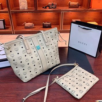 MCM two-piece picture and mother bag simple and versatile shoulder bag
