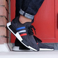 Adidas NMD R1 PK- Tri Color - Black Boost Sport Running Shoes Classic Casual Shoes Sneakers
