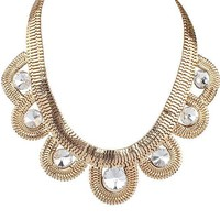 Forever Vintage Simple Design Stylish Accessory Sweater Chain Statement Necklace [6573112711]