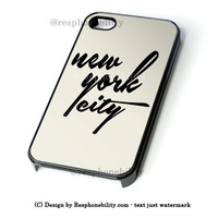 Black Nyc iPhone 4 4S 5 5S 5C 6 6 Plus , iPod 4 5  , Samsung Galaxy S3 S4 S5 Note 3 Note 4 , and HTC One X M7 M8 Case