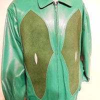 G-Gator Verde Stingray/Lamb Skin Jacket