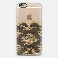 Faux Gold and Black Romantic Lace iPhone 6 case by Organic Saturation | Casetify