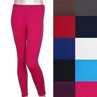 Solid Full Length Seamless Stretch spandex  Long Leggings Footless Skinny Tights