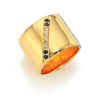 Elizabeth and James - Paxton White Topaz & Black Spinel Ring - Saks Fifth Avenue Mobile