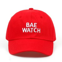 2018 new BAE WATCH Dad Hat Embroidered Hat Baseball Cap Tumblr Pintrest Trending Baseball Hat