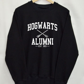 Harry potter clothes Hogwarts Alumni shirt Clothing Sweater Sweatshirt Top Tumblr Fashion Slogan Funny Jumper